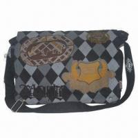 Quality Laptop Bag, Made of Print and Embroidery Fabric, 2 Compartments wholesale