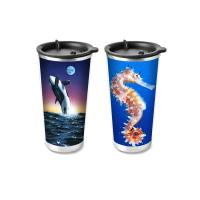 Quality Custom Plastic Food Grade 3D Lenticular Custom Printing Drinking Cup Plastic Kids Cups wholesale