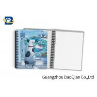 Quality Durable Custom Printed Notebooks , A4/A5/A6 3D Lenticular Cover CMYK Offset Printing wholesale