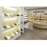 Quality Simple Modern Practical Shoe Display Cabinet / Store Display Fixtures 3D Design wholesale