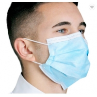 Quality Disposable Face Mask Blue Color With Earloop And Three Layer Protective Mask,Disposable Nonwoven Face Mask With 3 Ply wholesale