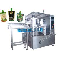 Buy cheap Jam / Sauce / Milk Liquid Pouch Packing Machine With Injector , Stainless Steel from wholesalers
