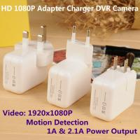 Quality 1080P Mini Adapter CCTV Surveillance DVR Spy Camera Motion Detection US/EU/UK Plug Charger wholesale