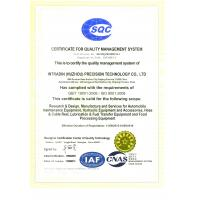 Intradin(Shanghai)Machinery Co Ltd Certifications