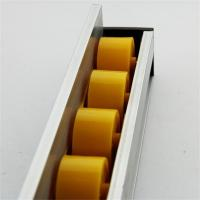 Quality Higher Side Aluminum Extruded Shapes Track Yellow Wheel 4 M 34mm Diameter wholesale