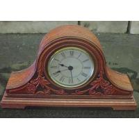 China Leather desk table Clock with photo frame on sale