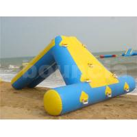 Quality 0.9mm PVC Tarpaulin Inflatable Water Slide For Seaside Use wholesale