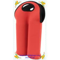 China Double neoprene wine bottle cooler cover on sale
