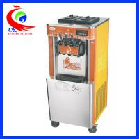Quality Freestanding Soft Ice Cream Maker For Home / Three Flavor Ice Cream Making Equipment wholesale