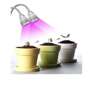 China Dual Head  LED Plant Grow Light 360 Flexible Adjustable Gooseneck For Greenhouse on sale