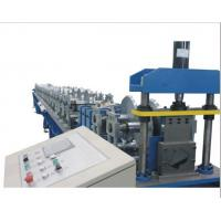 Quality PLC Control Gutter Forming Machine Hydraulic Cutting For Rainwater Round Gutter wholesale
