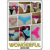 Buy cheap hot selling cheap assorted women sexy lace underwear ladies lingerie mature T-back Summer panties stock from wholesalers