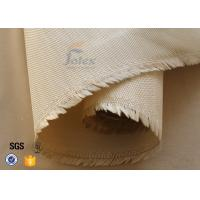 Quality 600g 0.7mm Brown Satin Weave High Silica Fabric Fiberglass Fire Blanket wholesale