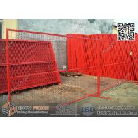 Quality 6ft high Portable Temporary Construction Fencing with RED color highly visible powder coat color wholesale
