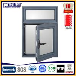 Quality powder coating frames aluminium casement window with mosquito nets wholesale
