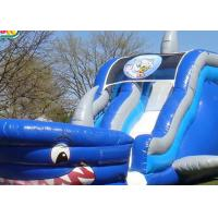 China 0.55mm PVC Giant Inflatable Slide For Water Games / Blow Up Water Slide For Toddlers on sale