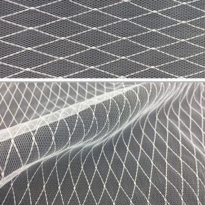 China 20D nylon lace diamond Mesh cloth for women's dress on sale