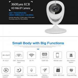 Quality EC8 HD 720P Mini Wifi IP Camera Wireless P2P Baby Monitor Network Remote CCTV Surveillance DVR Camera Playback on App wholesale