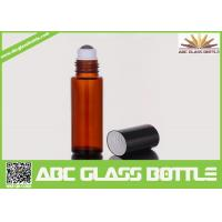 Quality 10ml Amber Glass Roll On Bottle For Perfume Use wholesale