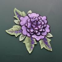 Quality Polyester Embroidered Floral Appliques For Jackets 11 CM X 9 CM Multi Color Available wholesale