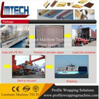 upvc french doors profile wrapping machine