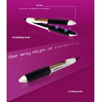 Quality China hot sale 2 in 1 round hair flat iron and hair brush with cheap price wholesale