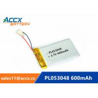 Quality 053048pl 503048 3.7v lithium polymer battery with 600mAh rechargeable li-ion battery for GPS, bluetooth speaker wholesale