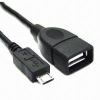 Quality USB A female to micro USB male cables 2.0 version, 30V voltage  wholesale