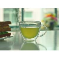 Quality Double Walled Glass Tea Cups With Handle Heat Resistant Borosilicate Glass wholesale