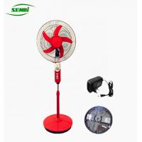 China Indoor / Outdoor Ac Dc Electric Stand Fan , Battery Operated Pedestal Fan on sale
