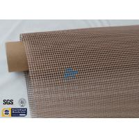 Quality PTFE Coated Fiberglass Conveyor Belt Fabric 4x4MM Doule Weft Brown Open Mesh wholesale