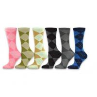 Quality Women's Ladies Value 6-Pack Crew Socks, Argyle, Nordic, Stripe, Flower wholesale