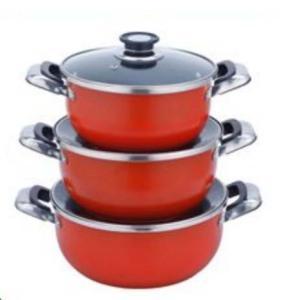Quality Cast Iron Stock Pot Set 3PCS (LFR3666-2) wholesale