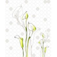 Quality Pure Calla Lily Interior Decorative Wall Panels Bamboo Fiber Wear Resistant wholesale