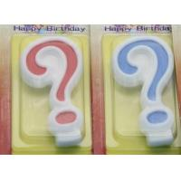 Quality !Question Mark !White Egde Question Mark Shape Candles  with 2 Colors Filling-in wholesale