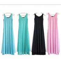 Quality O Neck Teal Pink Womens Summer Maxi Dresses Mesh Veils Strappy Prom Dresses wholesale