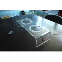 Quality Personalized 8mm Clear Acrylic Pet Bowl Stand 500 * 220 * 150mm wholesale