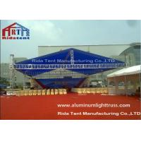 Cheap Aluminum Alloy Stage Light Truss Systems Hand / Electronic Hoist With Roof Cover for sale