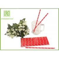 Quality Cute Design Red And White Party Paper Straws For Hot Drinking Diameter 6mm wholesale