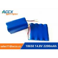Cheap 14.8V 2200mAh 4S1P 18650 battery pack 2.2Ah rechargeable battery 1C-10C discharge for sale