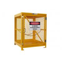 Quality Yellow Gas Cylinder Storage Cages Used For Gas Tank And Cylinder Locker wholesale