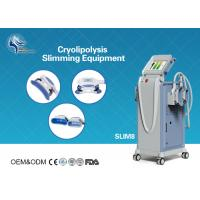 Quality Innovative Cryolipolysis Freeze Fat Reduction Machine with 4 Handles Work Cryotherapy With USA Pump wholesale
