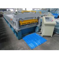 Quality Customized Roof Tile Roll Forming Machine Mitsubishi PLC , Roof Tile Making Machine wholesale