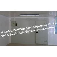 Quality Fire resistant Walk in Fridge Made Of Sandwich Panel With Sliding Door Cooler Box wholesale