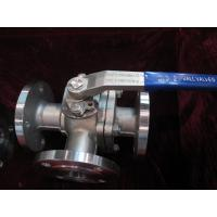 Quality T / L- Type Stainless steel 3 Way Ball Valves Flange end 1000WOG With ISO Mounting pad wholesale