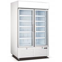 Buy cheap Double Glass Door Commercial Display Freezer With Embraco Compressor from wholesalers