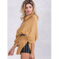 Quality Turtleneck Fashion Pullover Sweaters Cable Knit Pullover Womens Capes And Cloaks wholesale