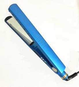 China Hot sale Dual Voltage Nano Titanium Tourmaline Ionic Brazilian Flat Iron Hair Straightener on sale