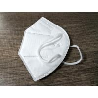 Buy cheap Personal Care Antivirus White Cotton KN95 Face Mask With Ear-hook In Stock from wholesalers