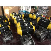 Quality China Stainless Steel CF8/CF8M Pneumatic Actuator Flanged Ball Valve wholesale